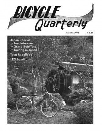 Bicycle Quarterly Tables of Contents | Rene Herse Cycles